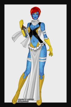 X-Girl-Mystique redesign by theaven