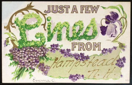 Vintage Postcard - Ivy and Violets by KarRedRoses