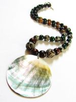 Shell Necklace by VioletRosePetals