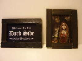 Dollhouse pictures in frame by SoDarkSoCute