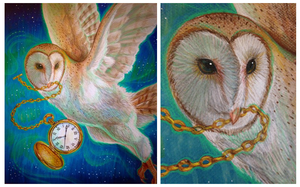 Traditional Owl Drawing by MissAbbeline