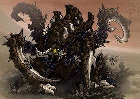 Zerg Ultralisk collab by Infernal-Feline
