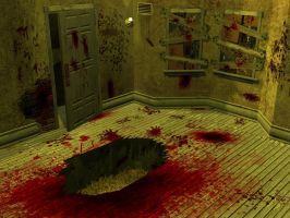 saw needle pit room 3d by rubenvoorhees1