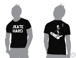 Skate Hard Men's Graphic Tee by emailartist26