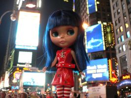 Blythe in Times Square by futurowoman