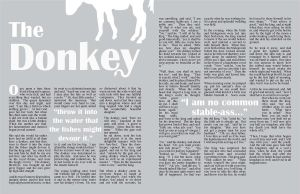 Two-Page Spread: The Donkey by onlypinkflamingo