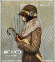 Art deco series 3 - Fall In New York by crayonmaniac