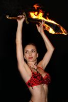 Fire Sword fusion bellydance by aliceinflames