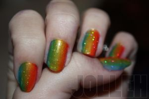 Rainbow Nails by AbefaceJolleh
