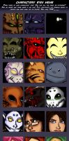 Characters' eyes meme by Pygmyink