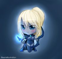 My Drow Ranger-chan can't be this cute!! by ProjectXeniX