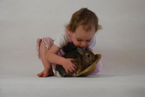GIRL AND bUNNY by stockmichelle