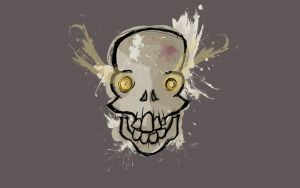 Mad Skull Wallpaper (Dark) by TemplarOfBacon