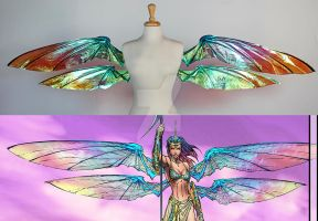 Grace wings from Soulfire Comic - Comparison by glittrrgrrl