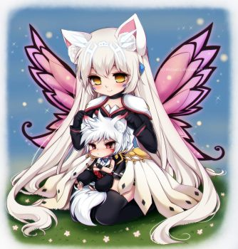 Elsword: Eve and Hoya by Midna01