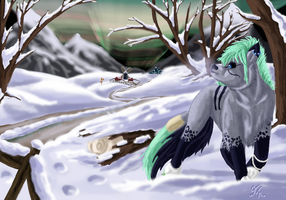 AT with Syntyni : Winter Night by Izayoi1265