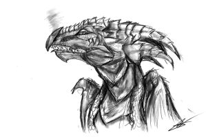 Dragon Sketchie by AzuraJae