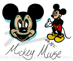 Mickey Tablet Sketches by Vega-Three