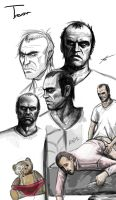 GTA 5 - Trevor Sketches by SessaV