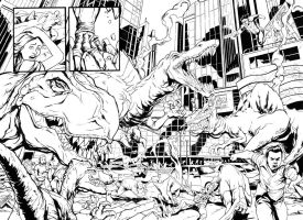 Dinosaurs in NY Inks by DRPR