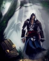 AC4:Black Flag~Treasure Hunter by AthavanArt