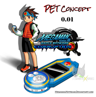 MMBN Corruption PET Artwork Concept 0.01 by Mega-X-stream