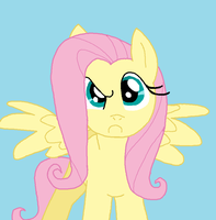 The Fluttershy STARE by Asp3ll