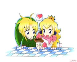 Ice Cream with Link and Peach by ChibiRedLink