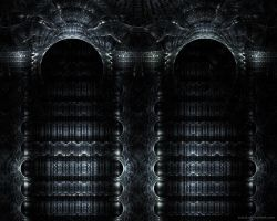 Black Metal Archway by Zueuk