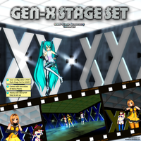 MMD GEN-X Stage Set by Trackdancer