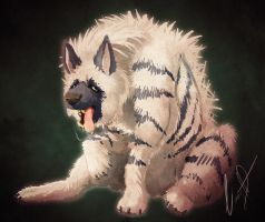 Striped Hyena by ScraptorProductions