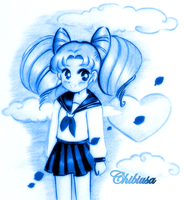 Mini-Moon - Chibiusa in blue by NeonGenesisEVARei