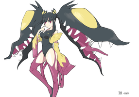 Mega mawile gijinka (color) by BloodShinigami