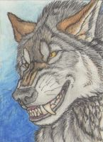 With a Wolfish Grin by Kigai-Holt