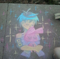 Sidewalk Chalk Pillow Talk by NasikaSakura