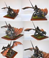 dragon rider my first sculpture end of the wip by giopunkart