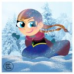 Anna from Frozen by brodiehbrockie