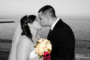 The Kiss (b+w and color) by patganz
