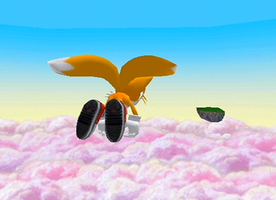 Tails Flying Over the Heavens by WhiteBlade-the-Zero