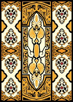 Vertical eastern style ornament  by Erve-Paul