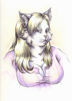 Commission: Gina Cat, complete by WafflesMcCoy