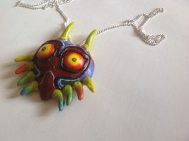 Majoras mask necklace by Spectral-Beanie