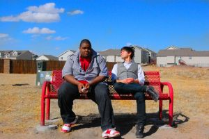 On A Red Bench by justinpooh