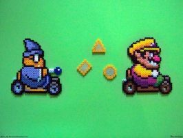 Perler Mario Kart by NES--still-the-best