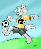 Soccer Wolf by marymouse