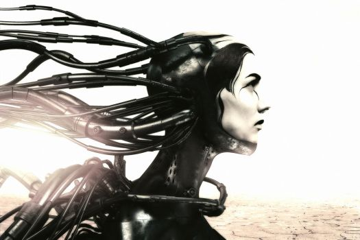 Wired cyber woman 2 (ad extremum illud est, manus) by CreativeDisput21