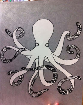 3D Octopus by KittyKyoto