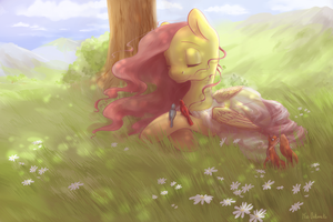 Commission 2.~ Strainer~ Fluttershy by Mao-Ookaneko
