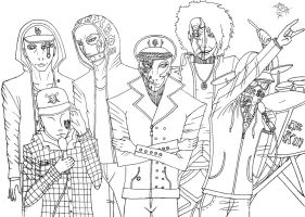Hollywood Undead, Lineart by NeoDeviant156