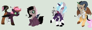 Draconequus X Pony Hybrid Adopts [CLOSED] by KatPocketMonster